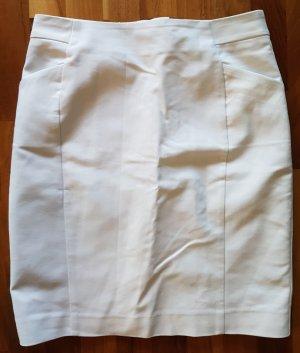H&M Bleistiftrock, Größe 38, weiß, Businesslook