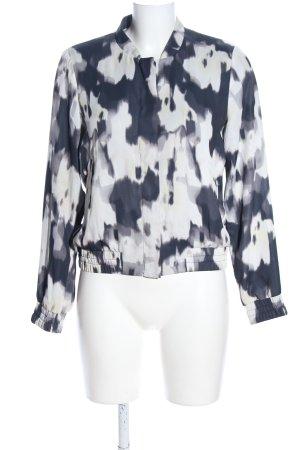 H&M Blouson blau-weiß abstraktes Muster Casual-Look