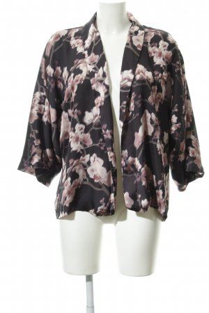 H&M Blouson dark blue-light pink floral pattern simple style
