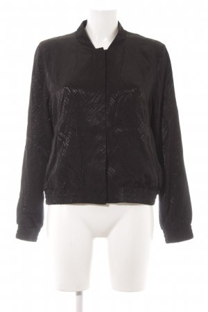 H&M Blouson black abstract pattern casual look