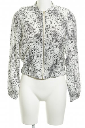 H&M Blouson white-black spot pattern casual look