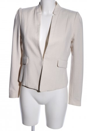 H&M Blouson natural white allover print business style