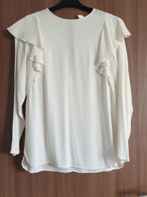 H&M Blusa con lazo blanco puro