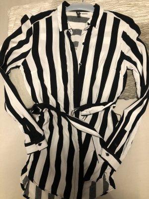 H&M Blouse kraagje wit-zwart