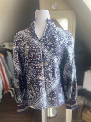 H&M Blusa brillante azul