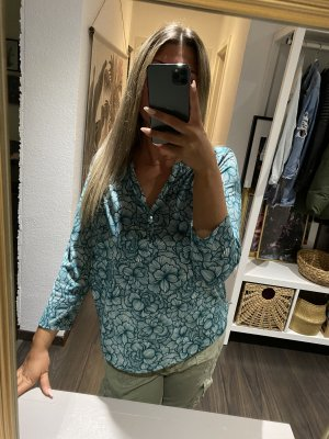 H&M Bluse blau gemustert