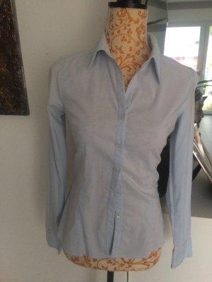 H&M Bluse blau weiß gestreift Gr 34 Wie Neu