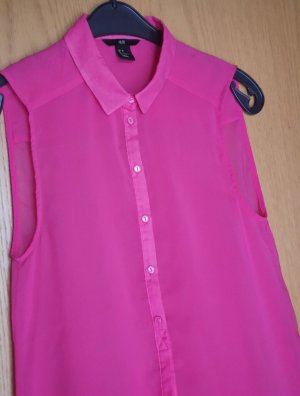 H&M Blouse Top red-pink polyester