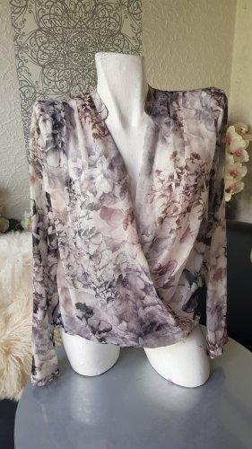 H&M Bluse Chiffonbluse Gr. 40 neuwertig fließender Stoff Wickelbluse