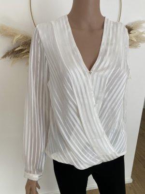 H&M Blouse brillante blanc cassé