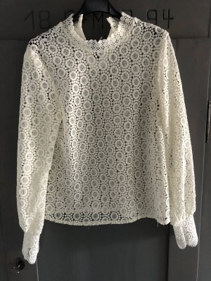 H&M Lace Blouse natural white-cream