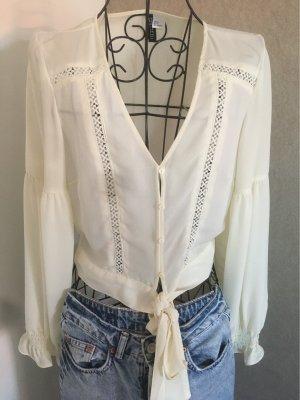 H&M Bluse cremeweiß Gr.36
