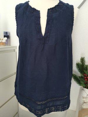 H&M Bluse dkl-blau Gr. 38