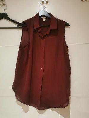 H&M Transparentna bluzka bordo