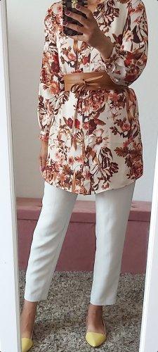 H&M Camicetta a maniche lunghe beige chiaro-rosso scuro