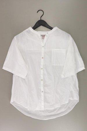 H&M Bluse Größe 46 3/4 Ärmel weiß aus Baumwolle