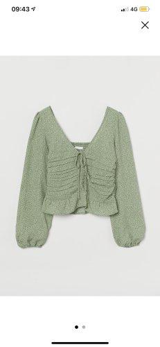 H&M Bluse grün