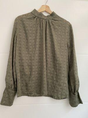 H&M Bluse Grün mit Muster Größe 40