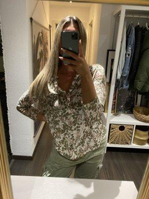 H&M Bluse hell gemustert