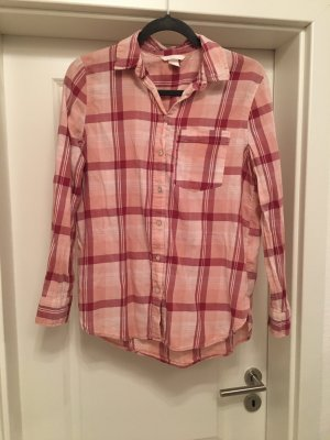 H&M Bluse Hemd Hemdbluse Gr 38 M rot rosa
