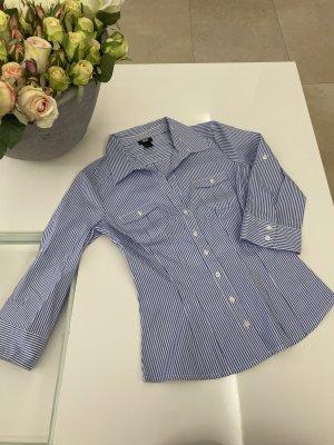 H&M Bluse Hemd Oberteil schick gestreift in XS / 34 hellblau blau weiß