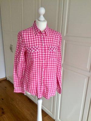 H&M Bluse kariert pink weiß 38