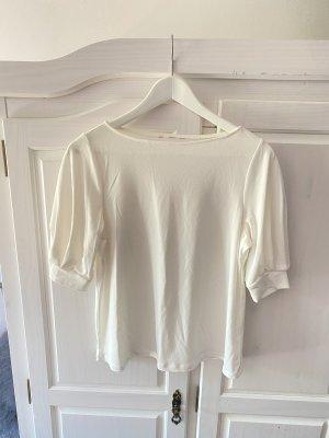 H&M Bluse mit Balonärmeln in cremeweiß