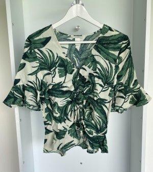 H&M - Bluse mit Blättermuster (ungetragen)