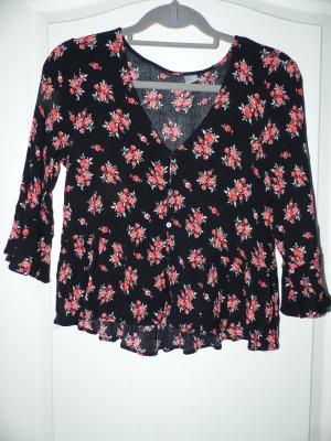 H&M Bluse mit Blumenmuster