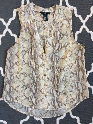 **H&M** Bluse mit zartem Schlangenprint