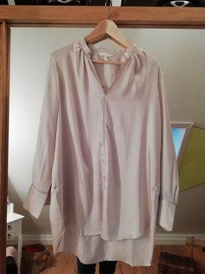 H&M Blusa de túnica beige claro