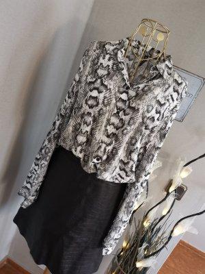 H&M Bluse Schlangenprint Neu schwarz weiß Gr. 38