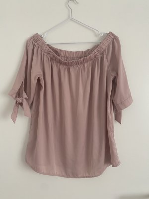H&M Bluse Schulterfrei rosa wie neu 42