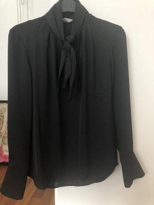 H&M Tie-neck Blouse black