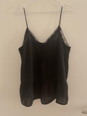 H&M Bluse Spitzenbluse 42 neu schwarz