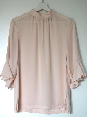 H&M Blouse à col montant rosé-rose clair polyester