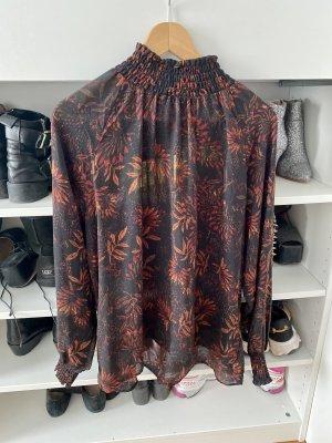 H&M Conscious Collection Blusa con collo alla coreana multicolore