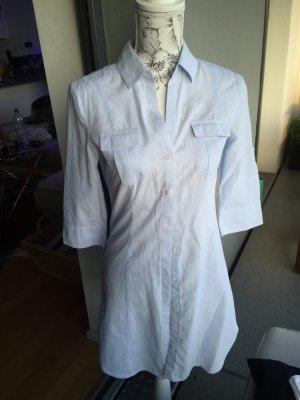 H&M Bluse Tunika blau weiß gestreift Gr 36 S wie neu