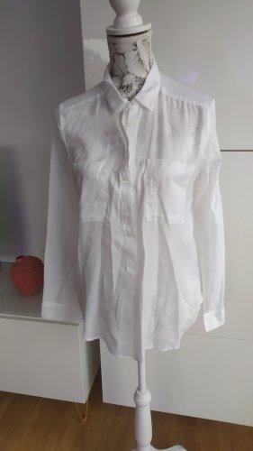 H&M Bluse weiß Baumwolle Gr. 36