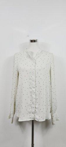 H&M / Bluse / weiß mit schwarzen Herzchen/ Größe 36/ geeignet für eine 38