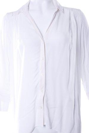 H&M Bluse weiß mit Spitze