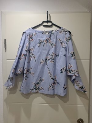H&M-Bluse zum Binden am Arm mit Blümchen in Größe 36
