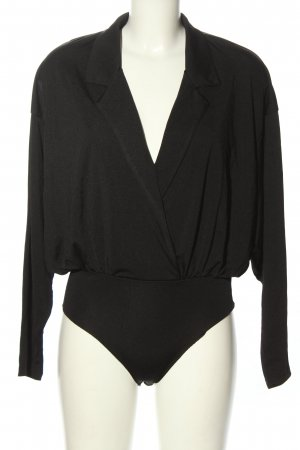 H&M Blusa tipo body negro look casual
