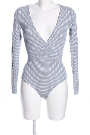 H&M Blusen-Body blau-weiß Streifenmuster Casual-Look