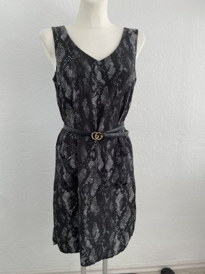 H&M Blusen Kleid Reptil Optik Grau schwarz gr 36