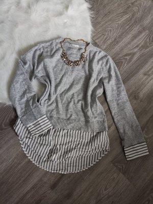 H&M Blouse longue blanc-gris clair