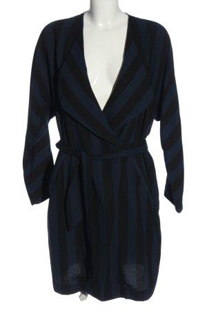 H&M Blusenjacke schwarz-blau Streifenmuster Casual-Look