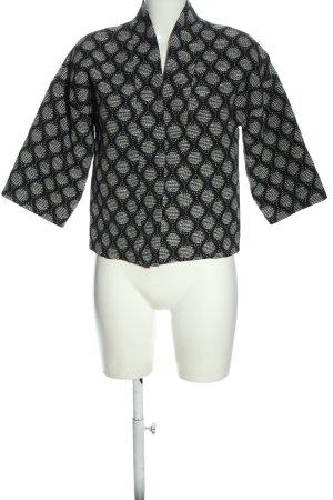 H&M Giacca a blusa nero-bianco sporco stampa integrale stile casual