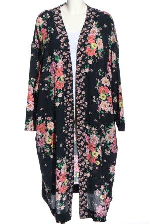 H&M Kimono noir-rose imprimé allover style décontracté