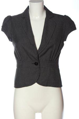 H&M Chaqueta tipo blusa gris claro-negro estampado a cuadros look casual